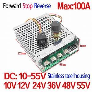 Dc Motor Controller 5500w High Power 100a Dc