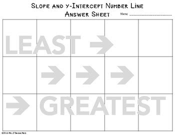 Slope And Yintercept Cut And Paste Activity By Mrs E Teaches Math