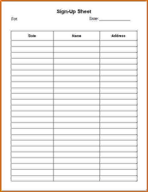 Sign In Sheet Template 7 Sign In Sheet Template Wordreference Letters Words