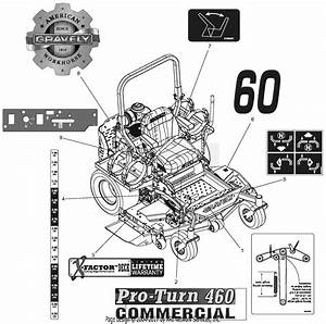 Gravely 992237  030000 - 039999  Pro-turn 460 Lp Parts Diagram For Decals - Style