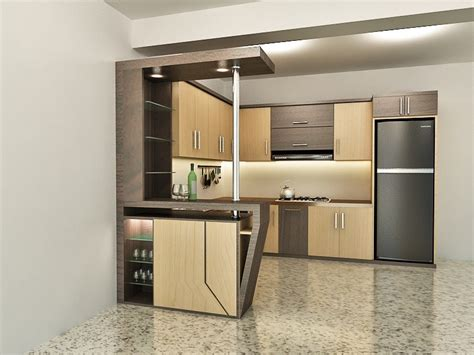 design kitchen set mini bar 10 desain kitchen set sederhana letter l dapurminimalisku 8630