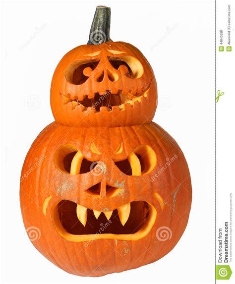 Halloween Pumpkin Heads Stock Photo Image Of Background