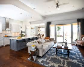 Paint Ideas For Living Rooms And Kitchens Kitchen Living Room Combo Houzz