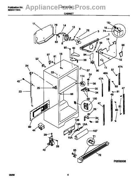 frigidaire 215002618 bracket ctr hinge appliancepartspros com