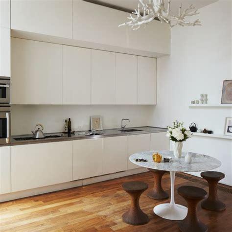 open plan white wood kitchen minimal kitchen diner modern decorating ideas housetohome co uk