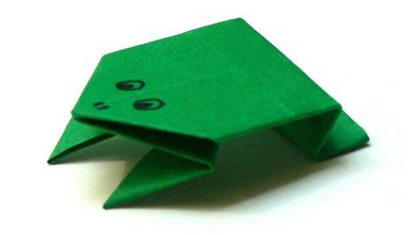 origami tiere falten  frosch frog youtube