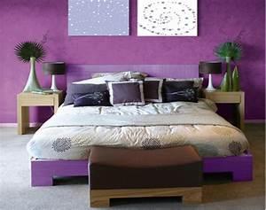associer la couleur violet dans la chambre le salon la With deco cuisine avec lit À eau