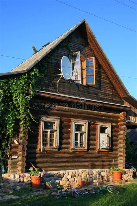 Russisches Haus Stockbild Bild Von Antenne, Aufbau