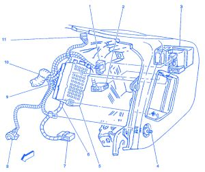 Chevrolet Passenger Side Electrical Circuit