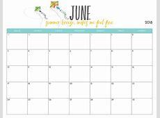 15+ June 2018 Calendar Template To Print Latest Calendar