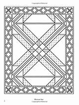 Coloring Patchwork Quilt Traditional Pages Dover Books Designs Amazon Adult sketch template