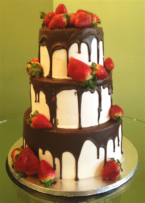 chocolate covered strawberry wedding cake classy girl