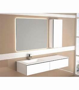 meuble suspendu salle de bain duo 140 banyo With meuble salle bain suspendu