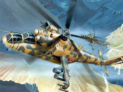 Mi Gunship Helicopter Mil Desktop Wallpapers13