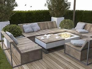 Salon Jardin Bois : 3 open studio apartment designs ~ Teatrodelosmanantiales.com Idées de Décoration