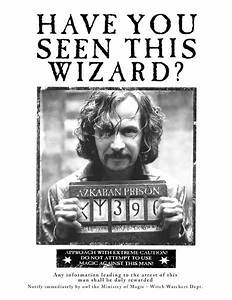 Sirius Black Wanted Poster | Harry Potter Party ...