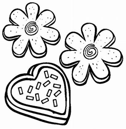 Cookie Coloring Sugar Clip Clipart Cookies Valentines