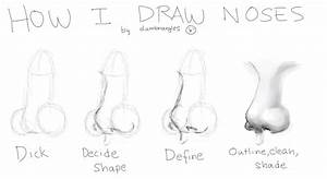 how to draw a realistic nose step by step
