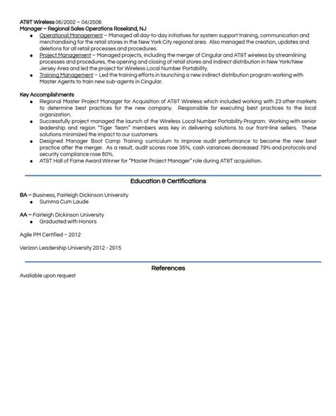 Simple Resume Model by A Model Resume Career Portfolio To Land A