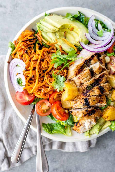 minute hawaiian chicken salad bowl simple roots