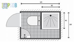 Plan Salle De Bain 4m2 : exemple de plan de salle de bain de 2m2 plans pour ~ Nature-et-papiers.com Idées de Décoration