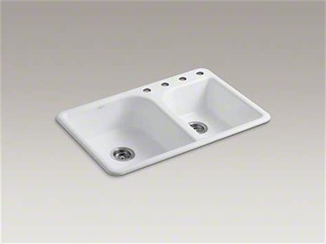 Kohler Kitchen Sink 33x22 by Kohler K 5948 4 0 Efficiency 33x22 Top Mount Kitchen Sink