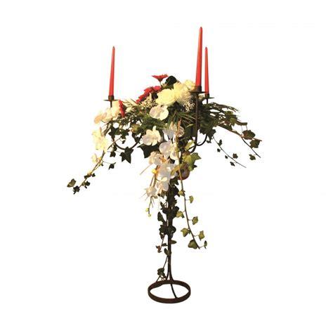 chandelier en fer forge  branches haut avec coupelle