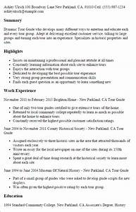 professional tour guide templates to showcase your talent With cv guide