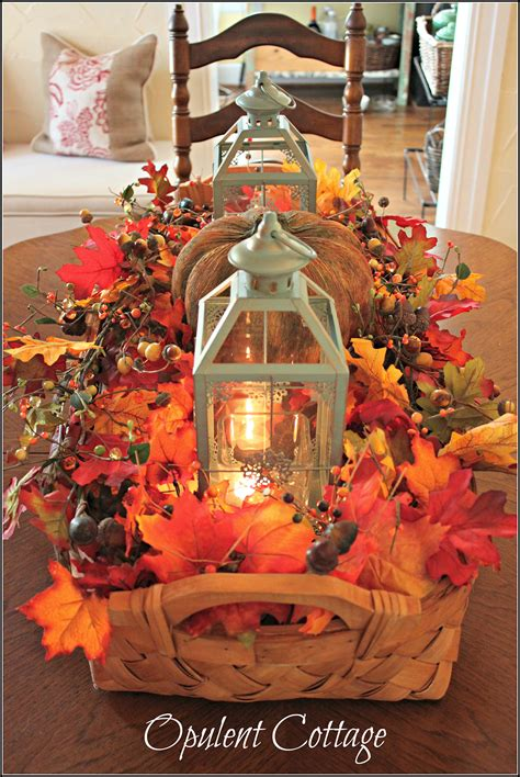 ideas homemade centerpiece for parties my home design 27 best diy fall centerpiece ideas and decorations for 2018