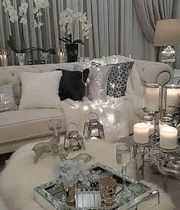 Stunning, Black, And, White, Living, Room, Design, Ideas, 27