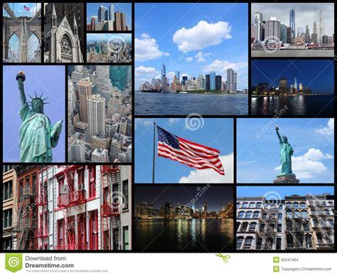 New York Collage Stock Photo Image Of Montage Travel