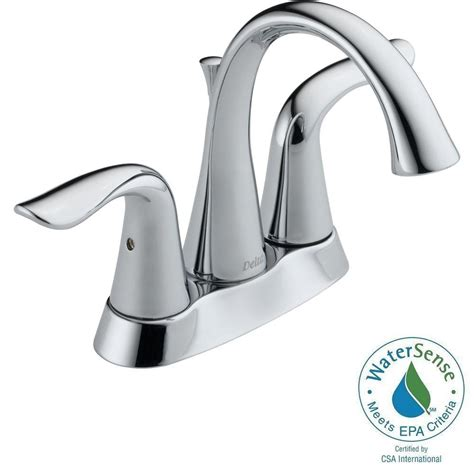 Lahara Faucet Home Depot by Delta Lahara 4 In Centerset 2 Handle Bathroom Faucet In