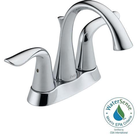 delta lahara 4 in centerset 2 handle bathroom faucet in