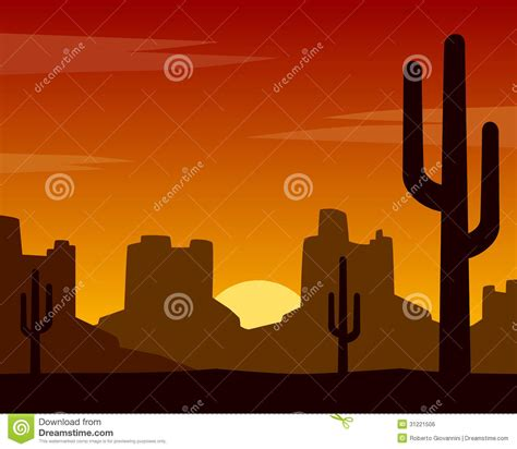 Wild West Background Vector Illustration | CartoonDealer ...