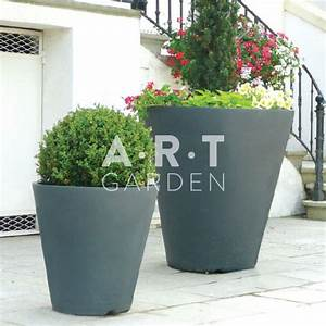 Gros Pot De Fleur : pot rond vase gros pot de fleur pour jardin et terrasse papi ~ Melissatoandfro.com Idées de Décoration