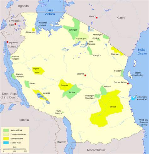 landkarte nationalparks von tansania weltkartecom