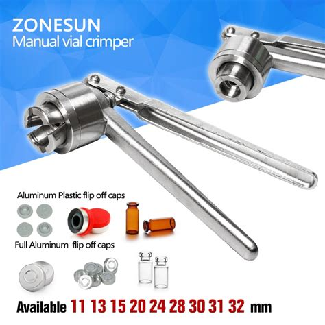 chippingzonesun vial crimpermm glass bottle sealing machine manual stainless steel