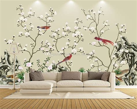 chinese painting wallpaper custom  wallpaper flowers