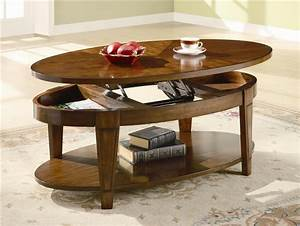 oval lift top coffee table in cherry finish by coaster With oval lift top coffee table