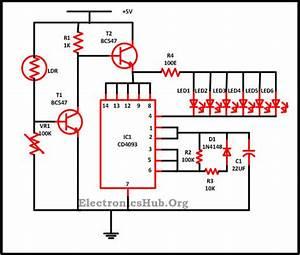 Christmas Lights Using Leds Circuit