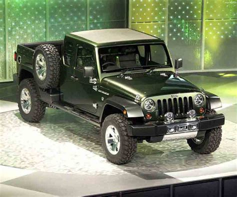new jeep concept truck jeep expected to name its wrangler based pickup as gladiator
