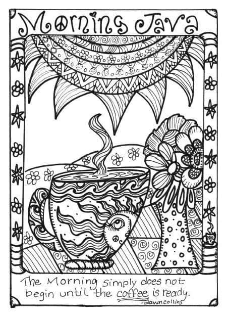 coloring pages  adults  funky pictures