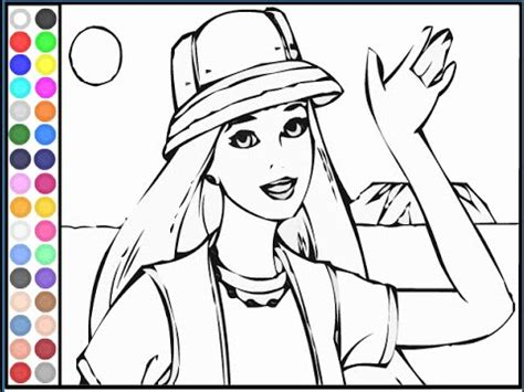 barbie coloring book pages youtube
