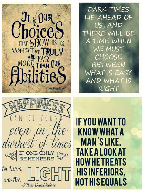 collage  famous harry potter quotes