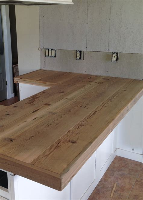 How To Make A Wood Plank Bar Top