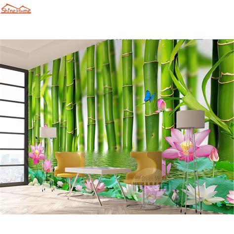 spa massage bamboo floral  room wallpaper  walls