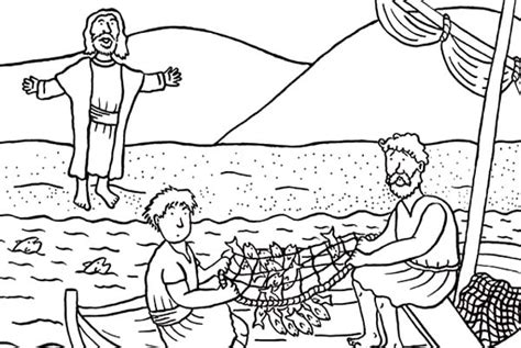Jesus Fishing Boat Coloring Page by Coloring Pages Of And Disciples Fishing Murderthestout