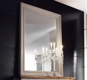 Spiegel Mit Weißem Rahmen : massivholz spiegel mit rahmen dielenspiegel schlafzimmerspiegel kiefer massiv wei ~ Indierocktalk.com Haus und Dekorationen