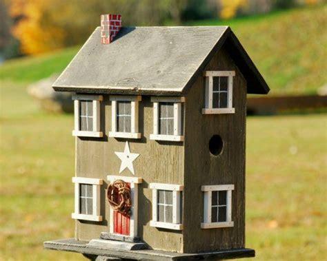 Country Bird House Primitive Salt Box Tinderbox Brown Home