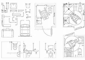 Disabled toilet 1 dwg free cad blocks download for Autocad ada bathroom blocks